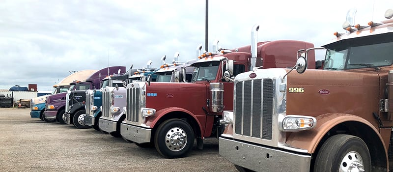 colorful trucks at Steelman